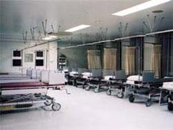 大腸検査準備コーナー(同時に9人の準備が可能)